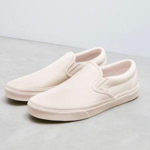 Vans Blush Leather Slip-Ons